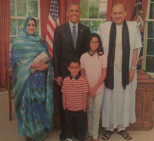 صورة تخدم الخبر سفير موريتانيا مع السفير الامريكي
