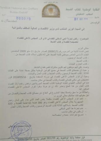 رسالة تظلم موجهة الى السيد رئيس الجمهورية رئيس المجلس الأعلى للقضاء وثيقة صحيفة الإعلام